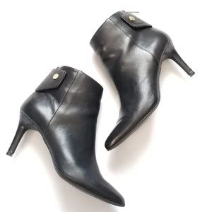 Cole Haan Black Leather Plath Shootie